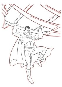 Superman Free Printable Coloring Pages