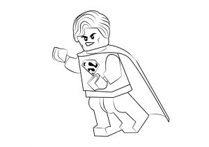 Superman Lego Toy Coloring Pages