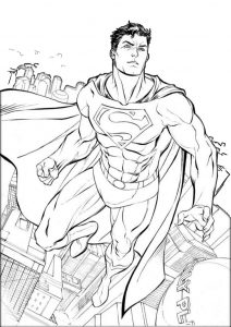 Superman Realistic Coloring Pages