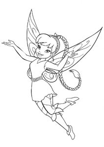 Tinkerbell Fawn Animal Fairy Coloring Pages Beautiful Braids