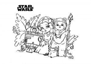 Very Cute Star Wars Baby Characters Coloring Pages