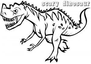 Very Scary Looking Dino Dinosaur Coloring Pages