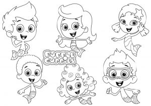 All Characters Bubble Guppies Coloring Pages Free Printable Sheets