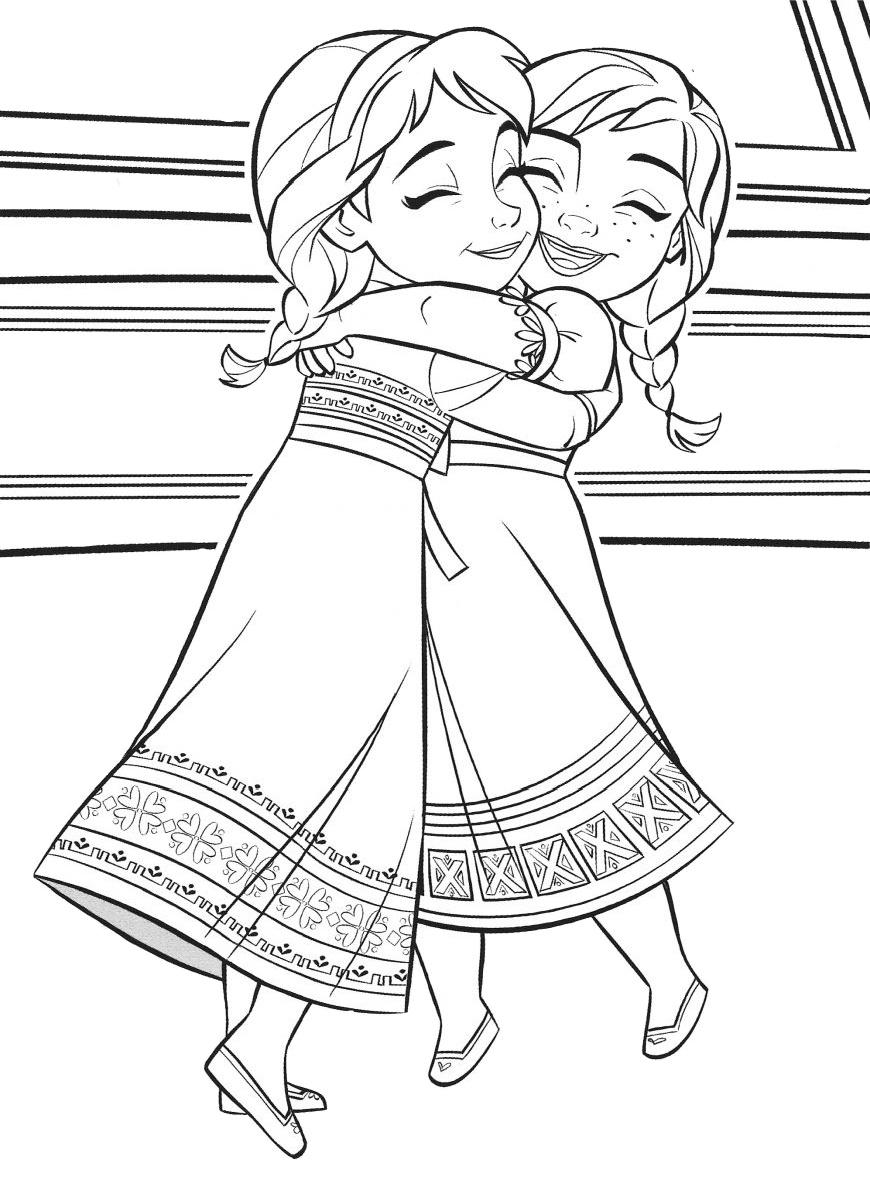 18 Frozen Printable Coloring Pages: Anna & Elsa - Print ...