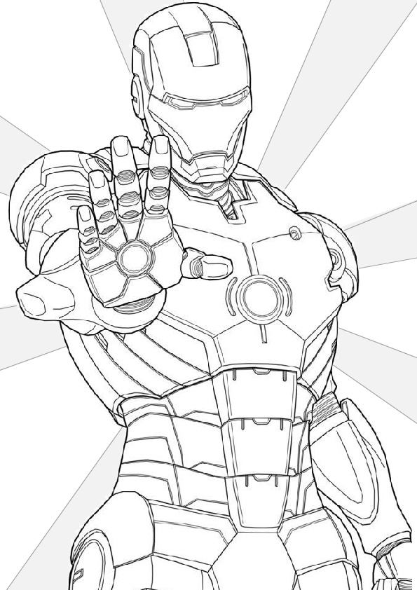 Avenger Iron Man Coloring Pages
