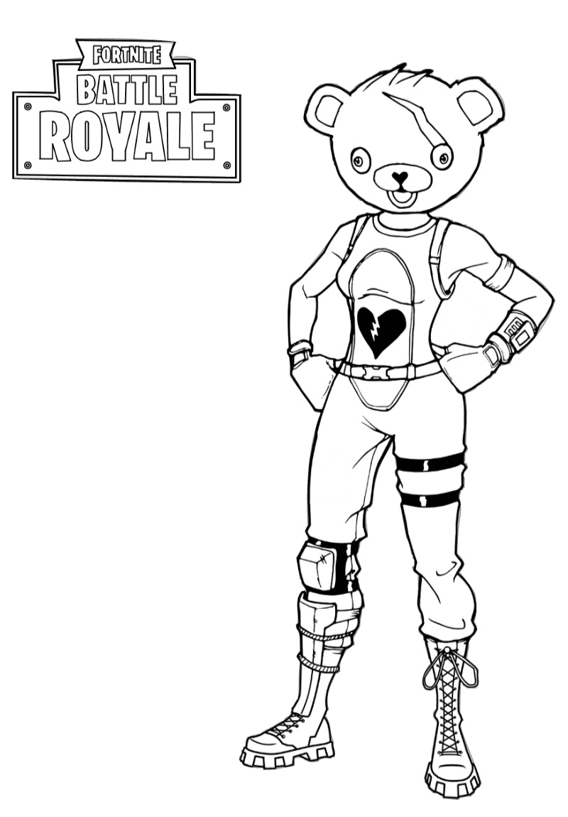 Battle Royale Fortnite Coloring Pages for Kids