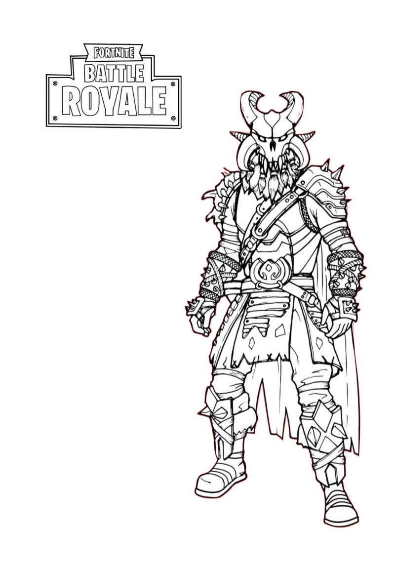 Battle Royale Players Fortnite Coloring Pages