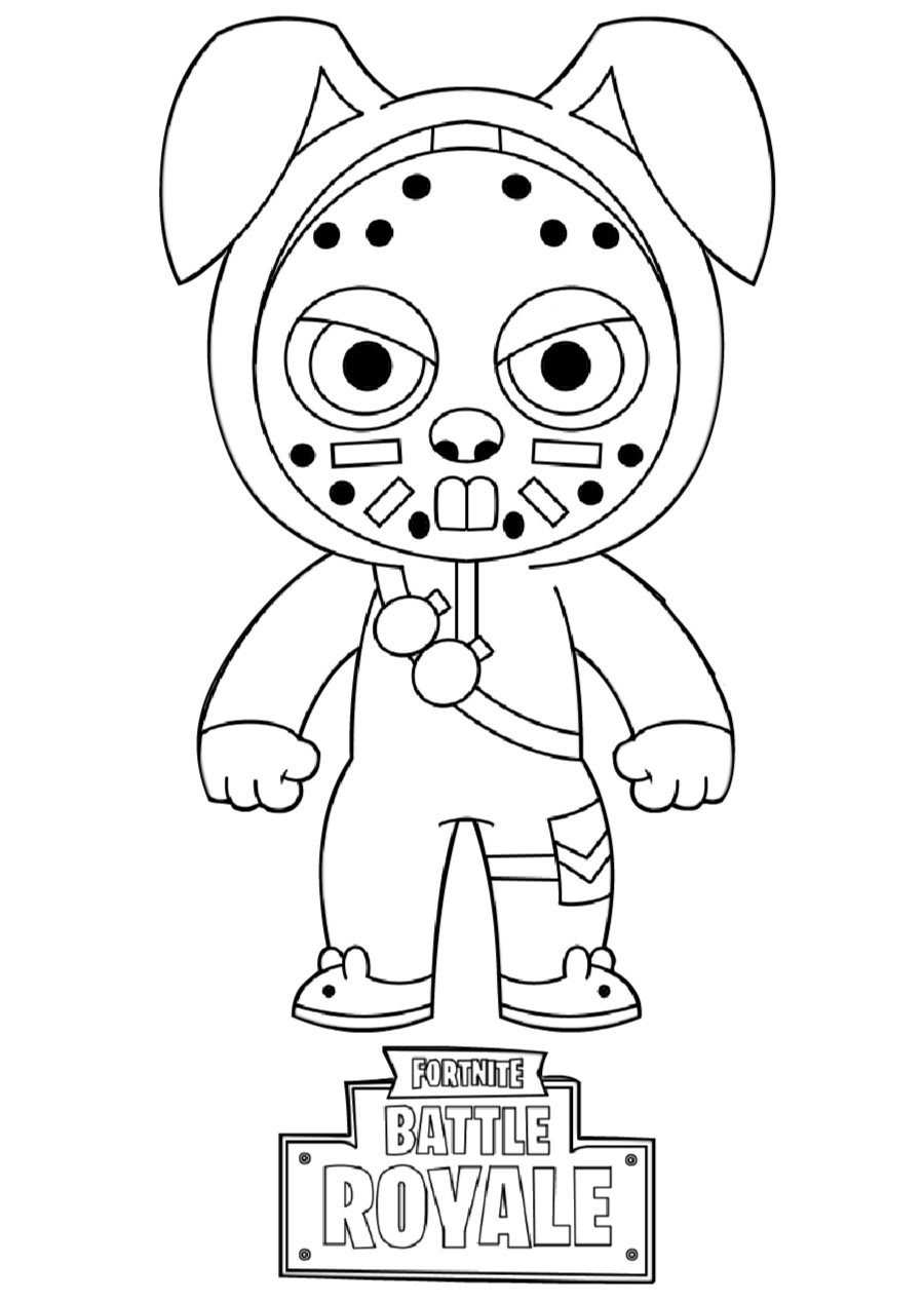 Battle Royale Rabbit Fortnite Coloring Pages