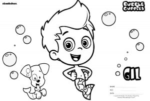 Brave and Happy Gill Boy Guppy Bubble Guppies Coloring Pages