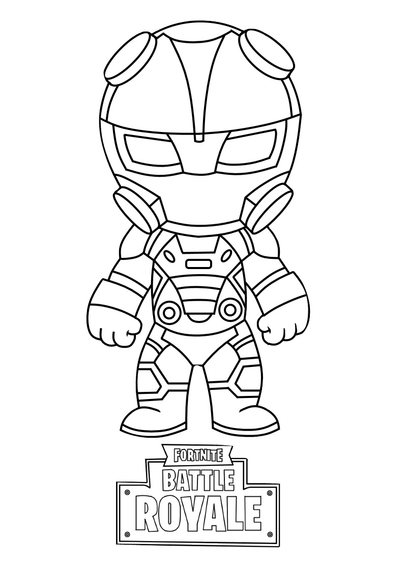 Cute Battle Royale Fortnite Coloring Pages