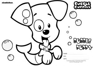 Cute Little Bubble Puppy Bubble Guppies Coloring Pages Free Printable Sheets