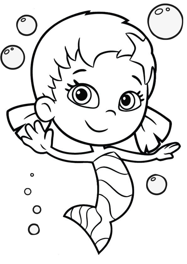 Cute Looking Oona Bubble Guppies Coloring Pages