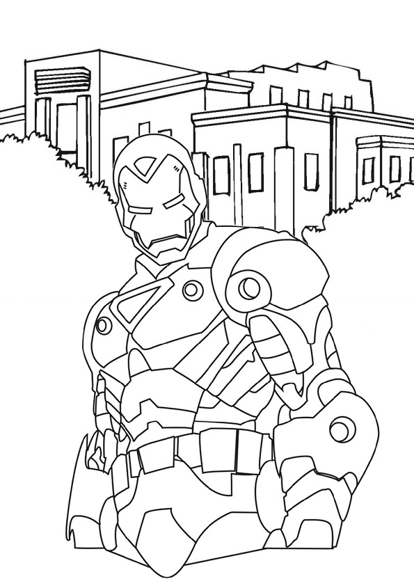 Easy to Color Iron Man Coloring Pages