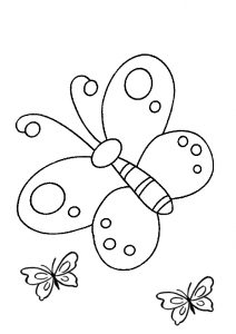 Easy to Draw and Color Preschool Butterfly Coloring Pages for Toddlers