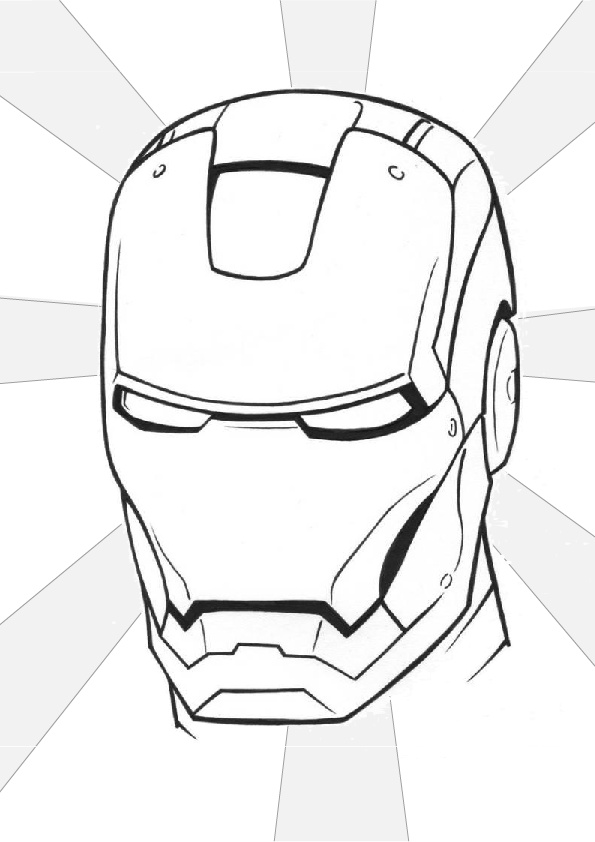 Face Mask Iron Man Suit Coloring Pages