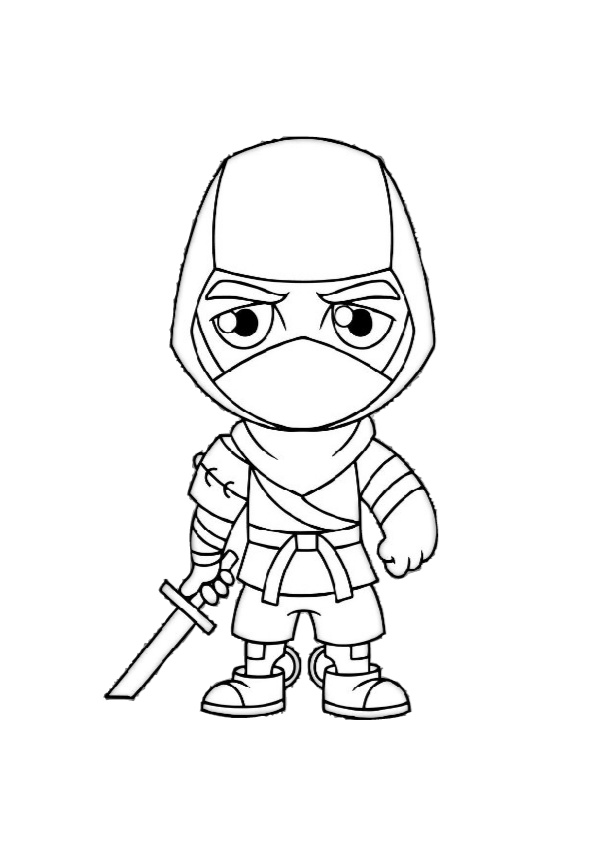 Fortnite Battle Ninja Coloring Pages
