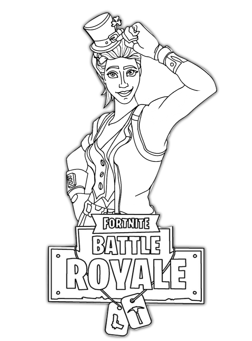 Fortnite Battle Royale Characters Coloring Pages