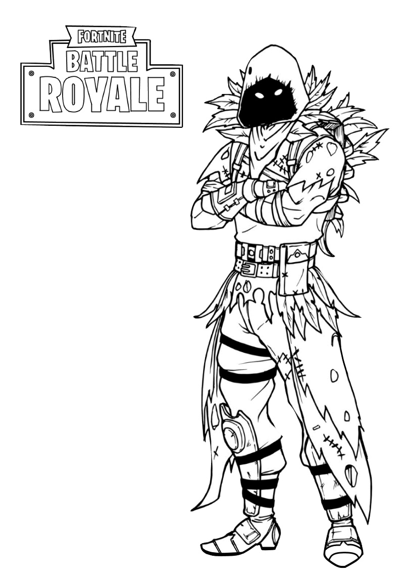 Fortnite Battle Royale Raven Coloring Pages