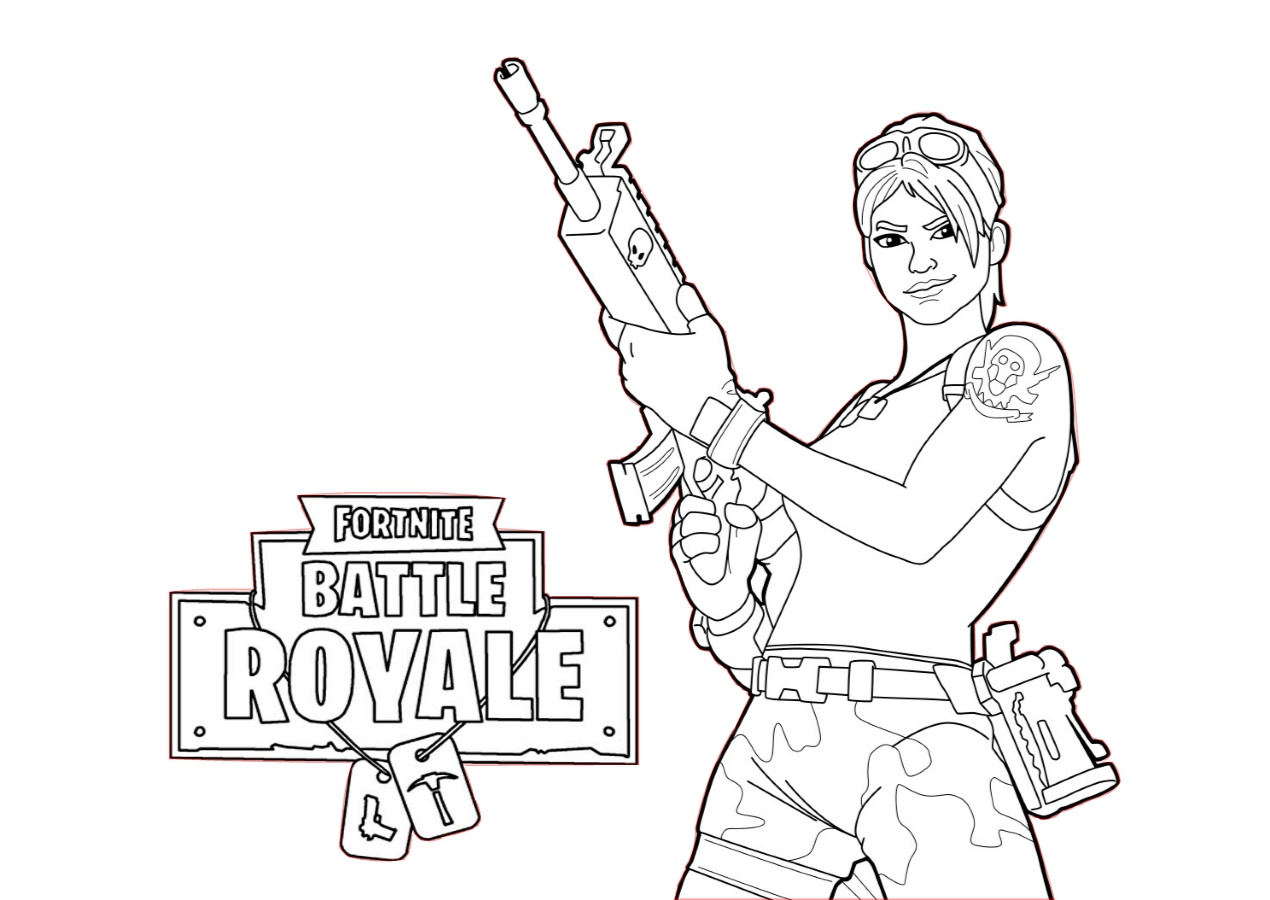Fortnite Coloring Pages Battle Royale Characters