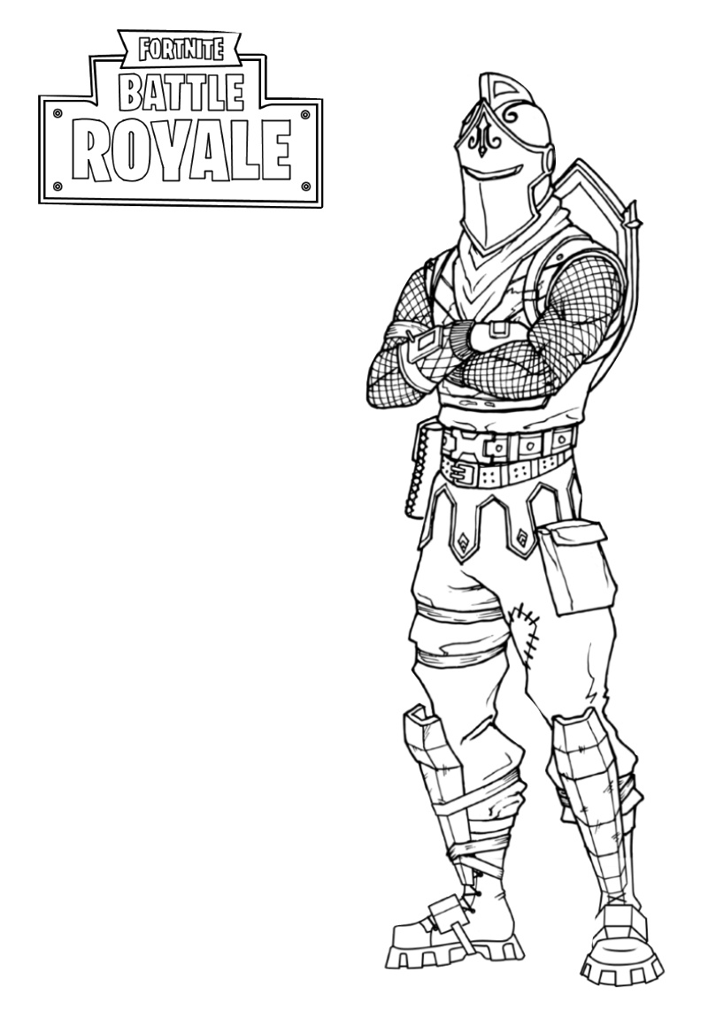 Fortnite Dark Coloring Pages Battle Pass Battle Royale