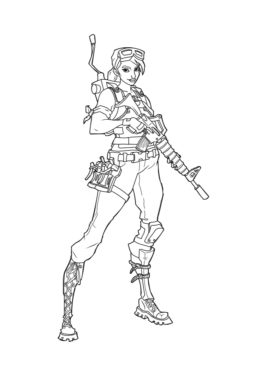 Fortnite Girl Coloring Pages