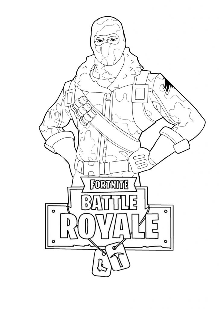 Fortnite Players Coloring Pages Print Color Craft
