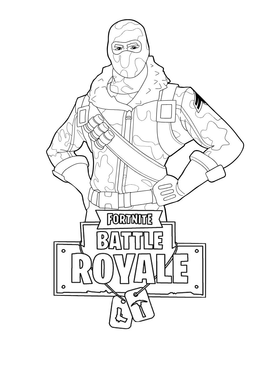 Fortnite Players Coloring Pages
