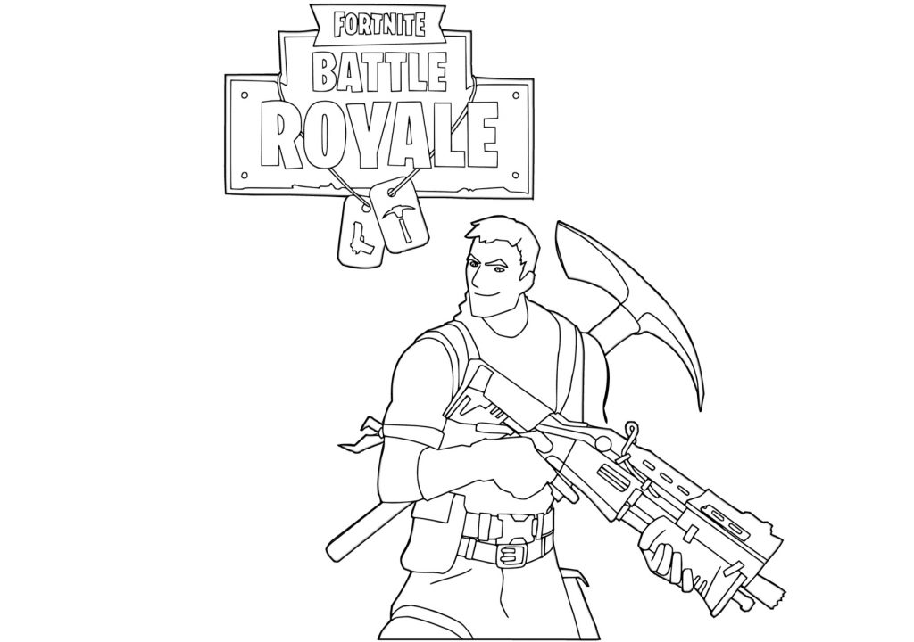 Fortnite Printable Coloring Pages Print Color Craft