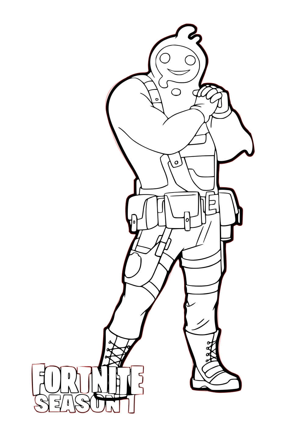 Fortnite Season 2 Player Rippley Coloring Pages