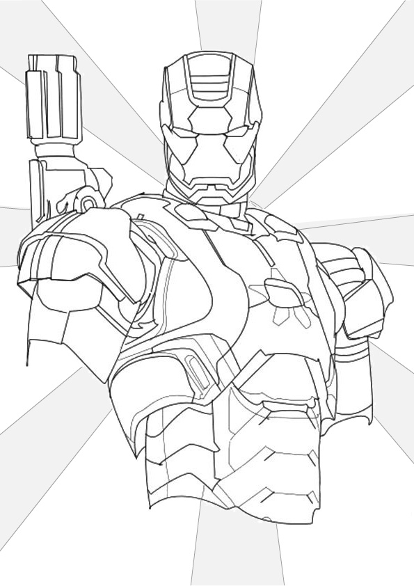 Iron Man Iron Patriot Coloring Pages