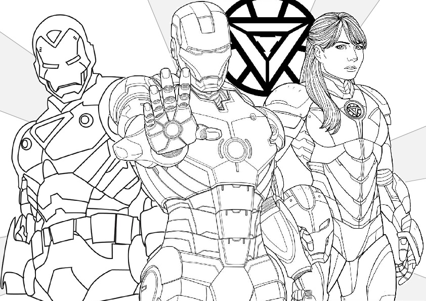 Pepper Pots Team Iron Man Coloring Pages