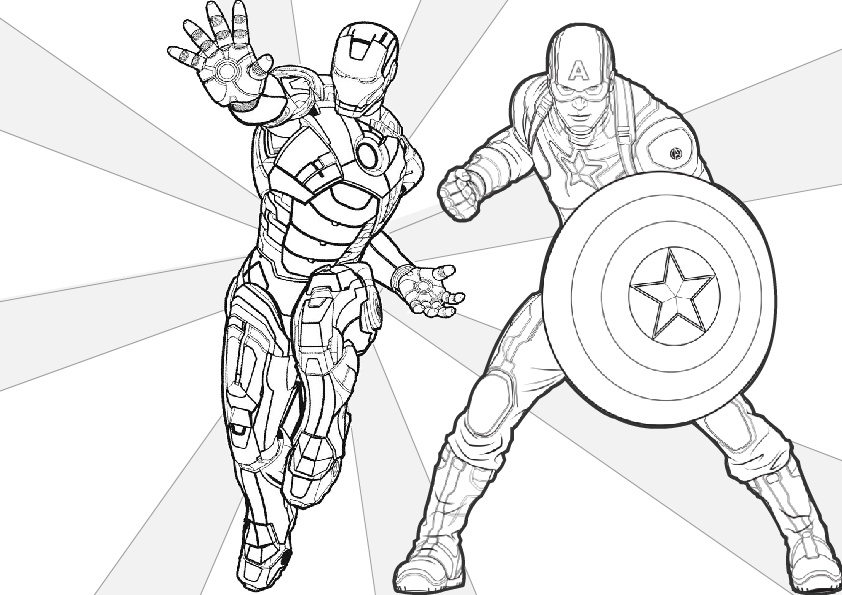 Iron Man Coloring Pages: Printable PDF » Print Color Craft