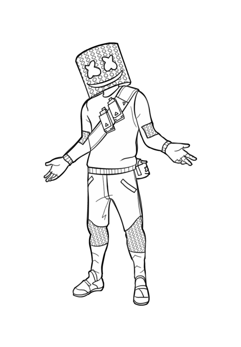 Marshmallow Head Fortnite Coloring Pages