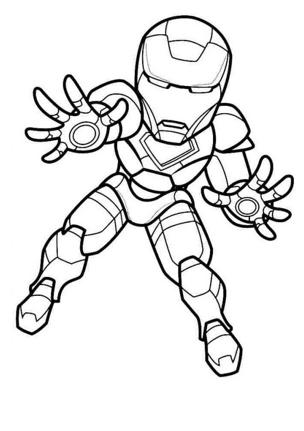 Printable Cartoon Iron Man Coloring Pages
