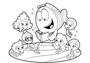 Printable Coloring Pages Bubble Guppies Learning Underwater with Mr Grouper
