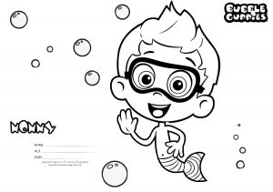 Printable Name Nonny Bubble Guppies Coloring Pages for Kids