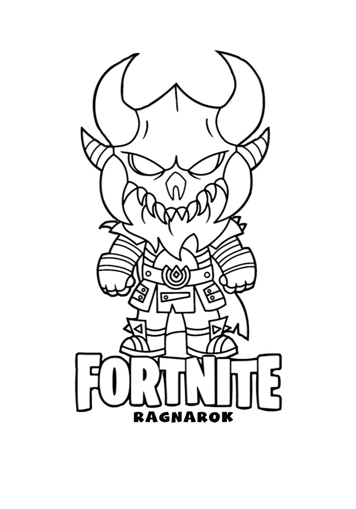 Ragnarok Fortnite Coloring Pages