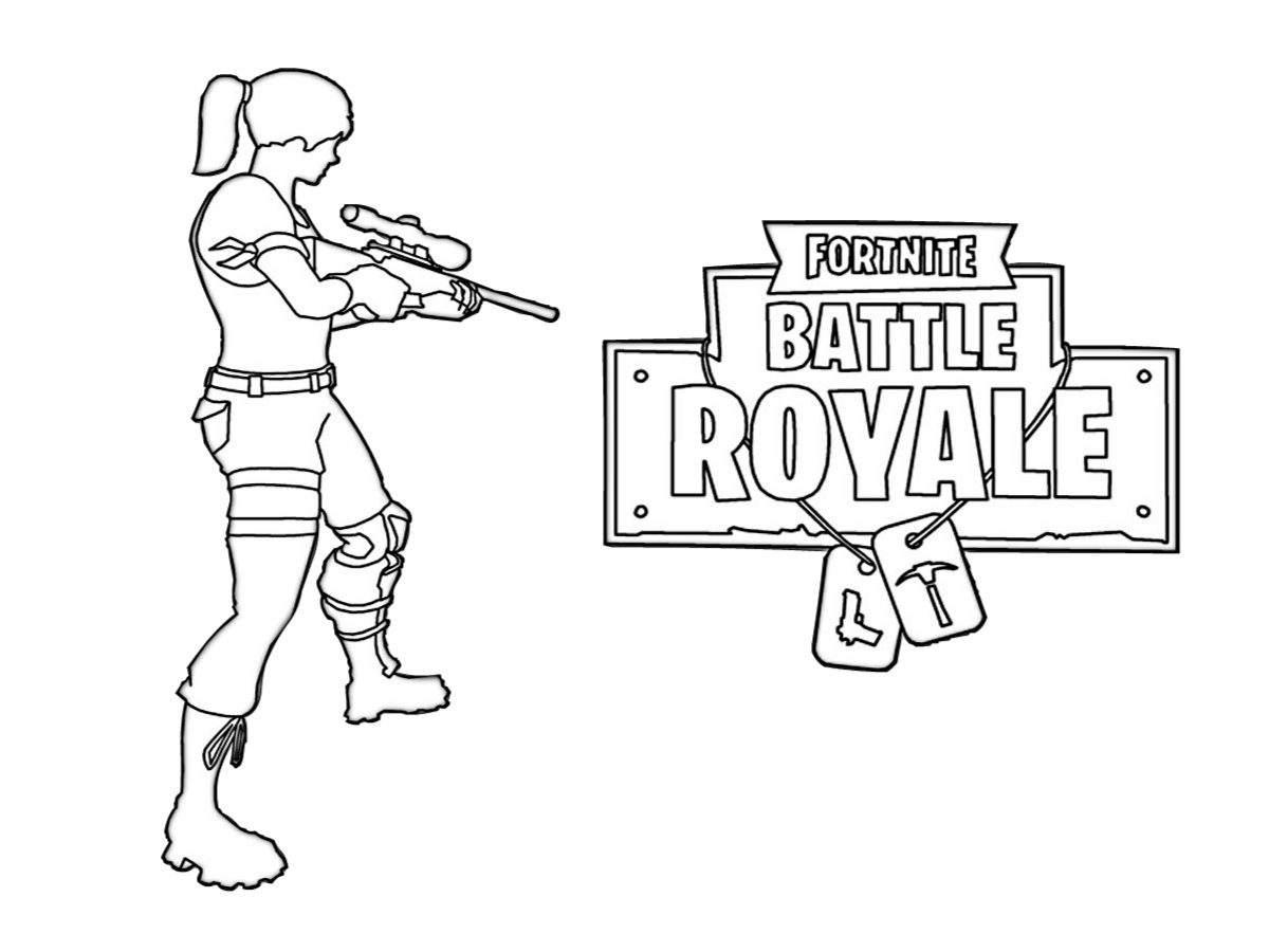 Shooting Fortnite Royale Coloring Pages