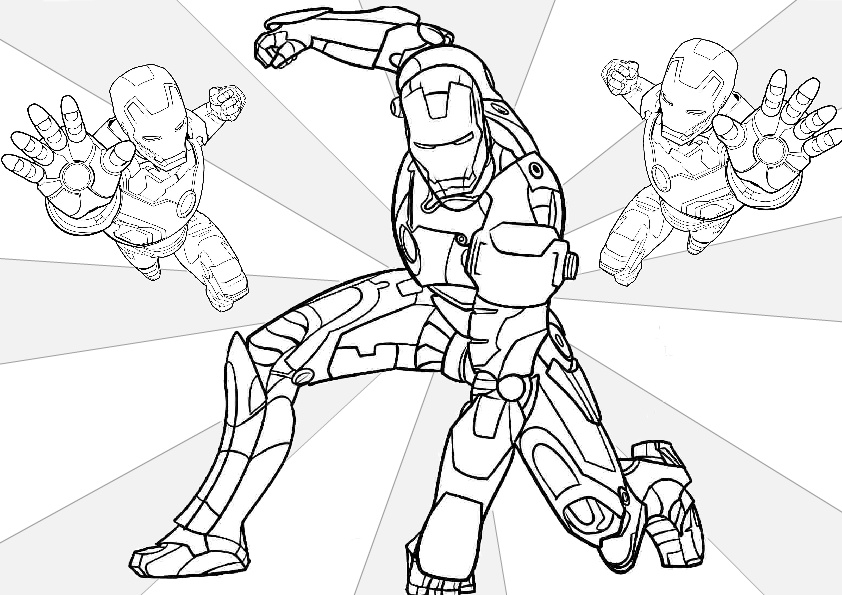 Tony Stark Iron Man Coloring Pages