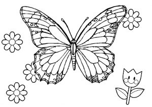 Wireframe Like Model Monarch Butterfly Coloring Pages