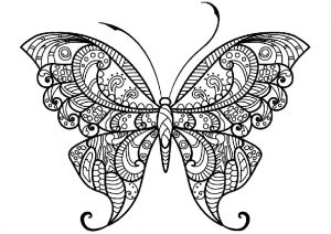 Wonderful Butterfly Adult Coloring Pages Mandala Coloring for Stress Relief