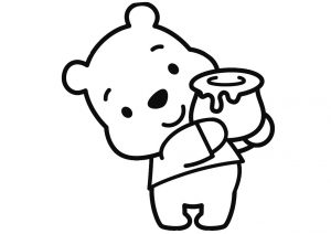 Adorable Chubby and Cute Disney Winnie the Pooh Coloring Pages