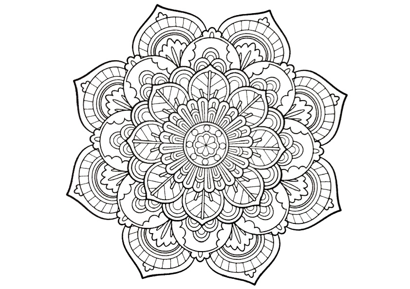 42 Adult Coloring Pages: PDF Mandala & Detailed Print ...