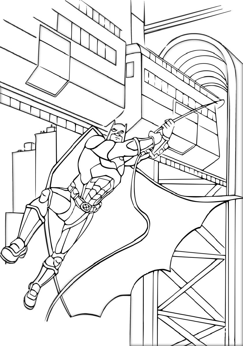 Batman Climax Scene Coloring Pages