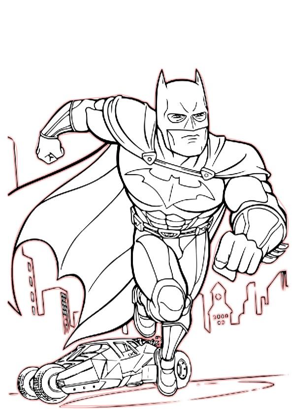 Batman Saving Gotham City Coloring Pages