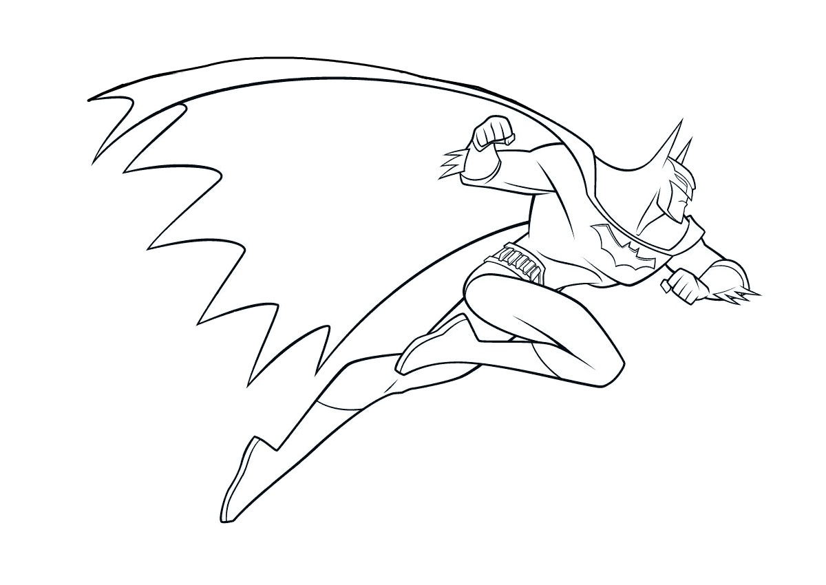 Batman in Action Easy Printable Coloring Pages