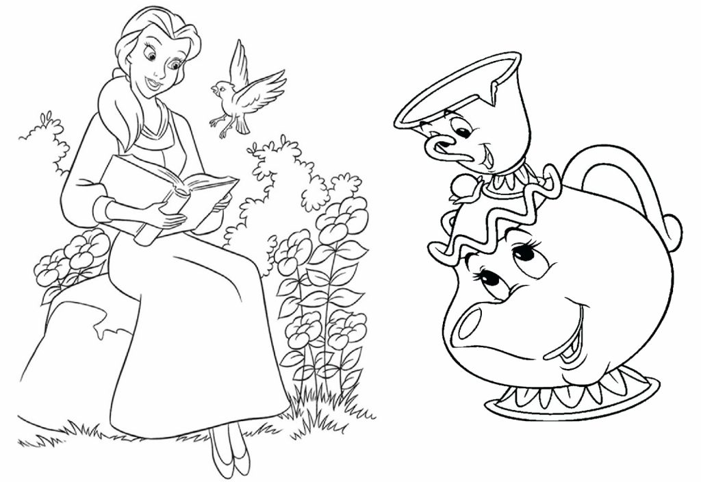 18 Beauty and the Beast Coloring Pages for Girls: Disney Princess Belle