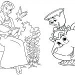 Beauty and the Beast Coloring Pages: Princess Belle