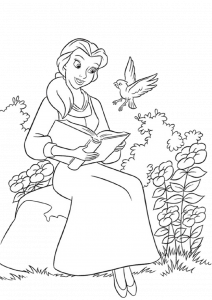 Belle Beauty and the Beast Coloring Pages