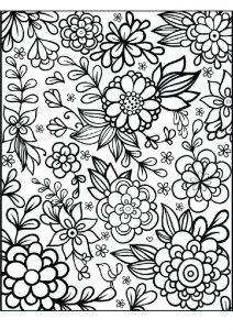Bright and Beautiful Adult Flower Coloring Pages